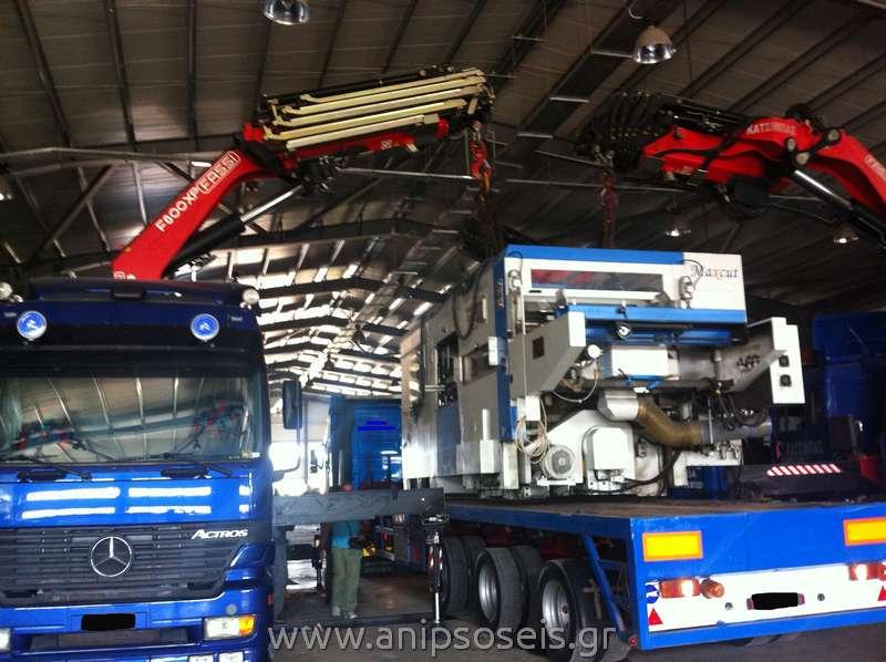 γερανομεταφορά και ανύψωση βαρέων μηχανημάτων