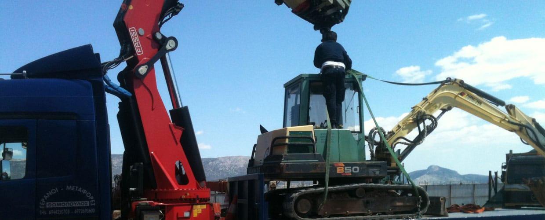 ανυψώσεις-μεταφορές βαρέων φορτίων από την εταιρία ανυψώσεων-γερανομεταφορών Νίκος Θωμόπουλος