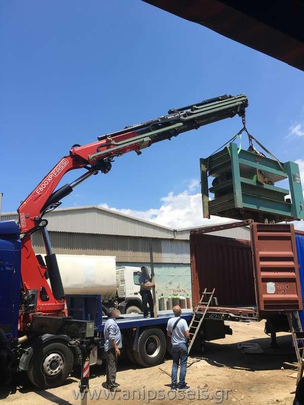 Φόρτωση Container με γερανό