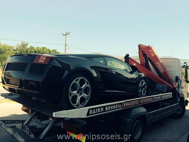 Οδική Βοήθεια Μεταφορά αυτοκινήτου με γερανό(2)