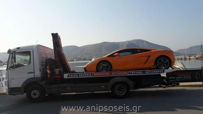 Οδική Βοήθεια Μεταφορά αυτοκινήτου με γερανό(5)