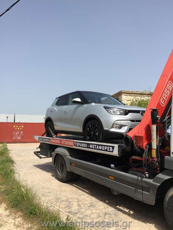 Μεταφορά με γερανό νέου αυτοκινήτου TIVOLI (10)