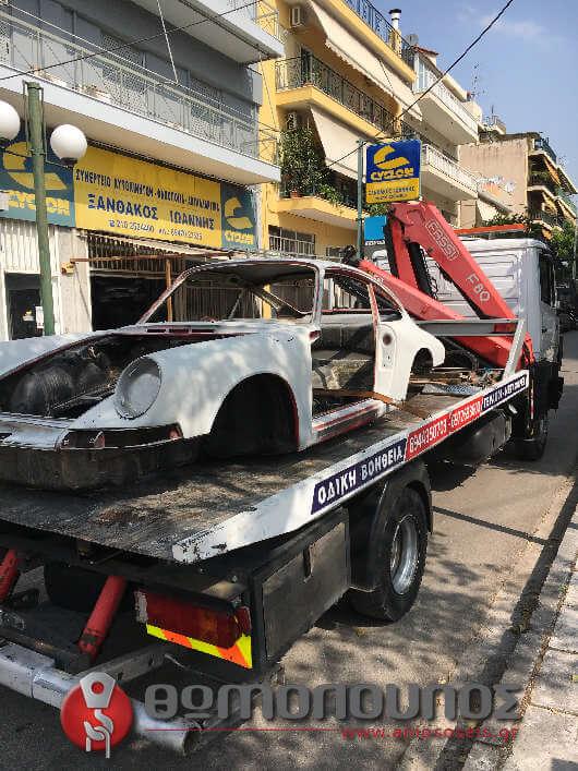 Μεταφορά αυτοκινήτου για ανακατασκευή