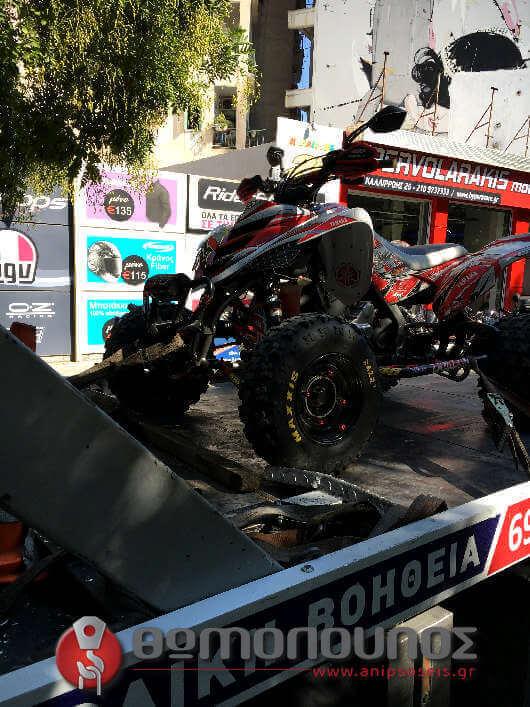 χωρίς ιμάντες η ανέλκυση και η ρυμούλκηση της αγωνιστικής μοτοσυκλέτας αγώνων - Οδική Βοήθεια