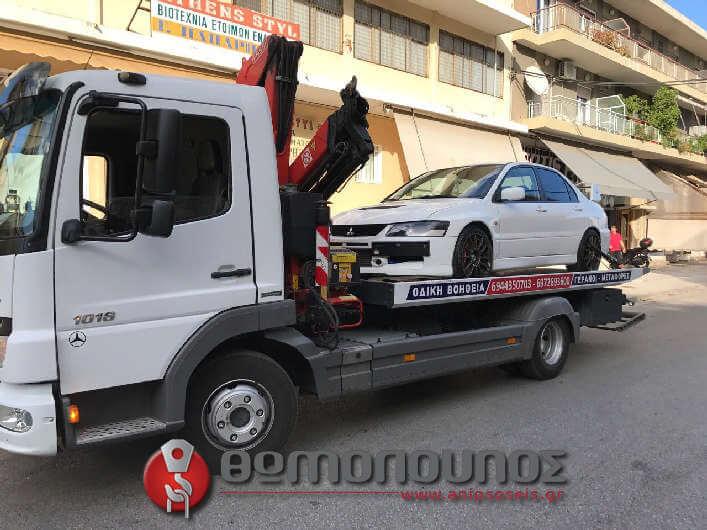 μεταφορά αυτοκινήτου με γερανό για αγώνες