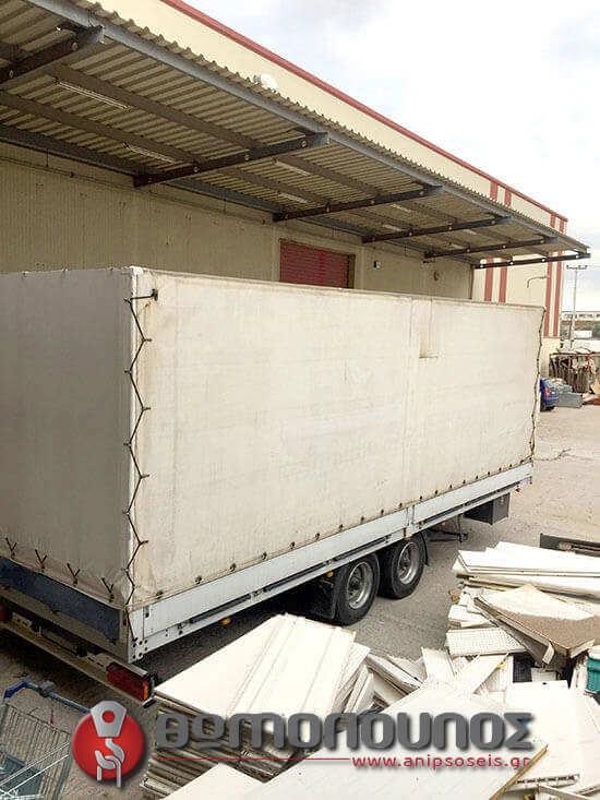 γερανοφόρα οχήματα με ρυμούλκα φορτηγού για διευκόλυνση στις μεταφορές μεγάλου όγκου