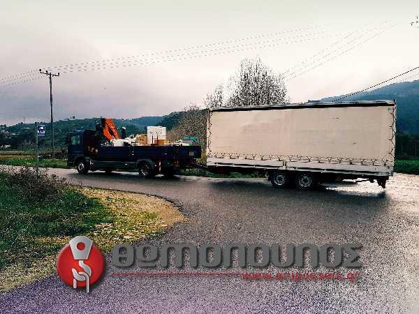 μεταφορά οικοσκευών με ρυμούλκα JUBO και ανυψωτικό μηχάνημα