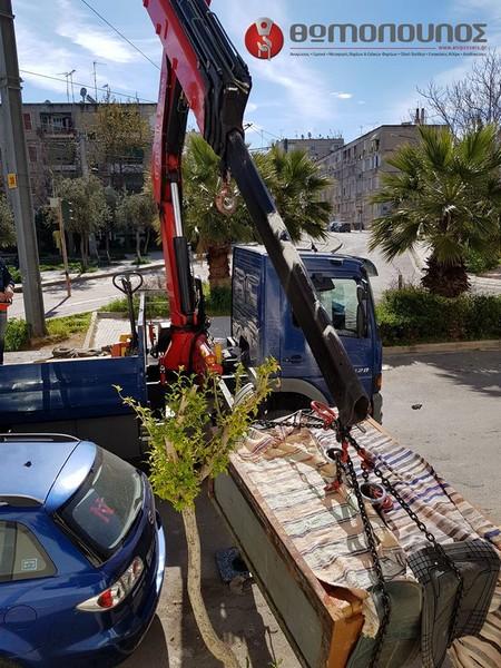 Ανύψωση και μεταφορά χρηματοκιβωτίου Θωμόπουλος