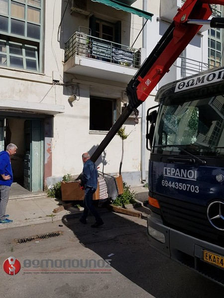 Ανύψωση και μεταφορά χρηματοκιβωτίου Θωμόπουλος Ανυψώσεις Μεταφορές