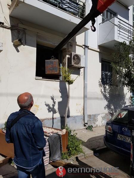 Ανύψωση και μεταφορά χρηματοκιβωτίου Ανυψώσεις Θωμόπουλος