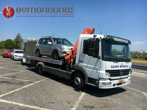μεταφορά τροχοφόρου για άλογα από την εταιρία ανυψώσεις, μεταφορές, γερανοί Νίκος Θωμόπουλος