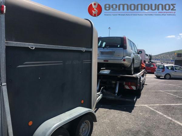 μεταφορά τροχοφόρου για άλογα, από την εταιρία μεταφορών Νίκος Θωμόπουλος