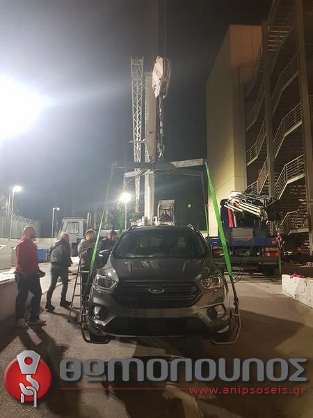 ανύψωση - τοποθέτηση εκθεσιακών αυτοκινήτων, γερανομεταφορές Νίκος Θωμόπουλος για την αυτοκινητοβιομηχανία FORD